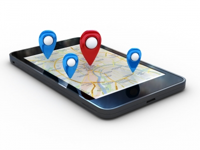 Smart,Phone,With,Map,And,Geolocation.,3d,Rendering,Image,With